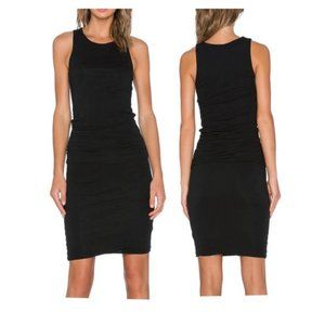 James Perse Ruched Belt Dress Black